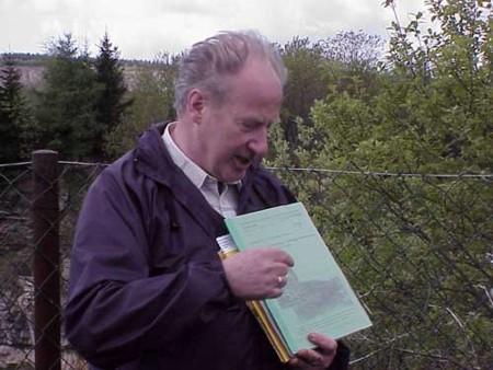Bild 1: Herr Brause am 1. Exkursionspunkt