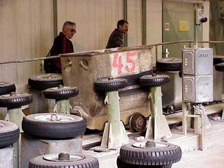 Bild 6: Hunteumlauf im Förderschacht des Kalkwerks Lengefeld