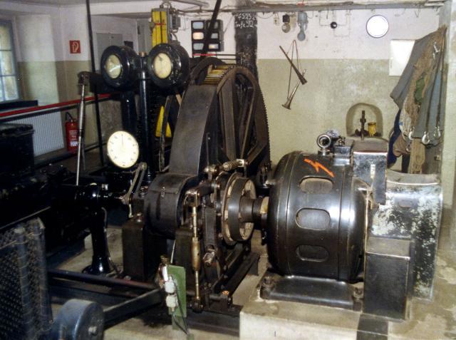Dampffördermaschine im Schacht Wimmelburg (Foto: M. Kupetz)