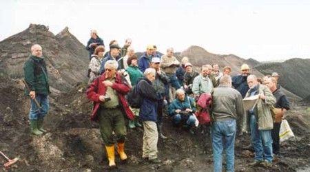 Exkursionsgruppe (Tagebau Amsdorf)