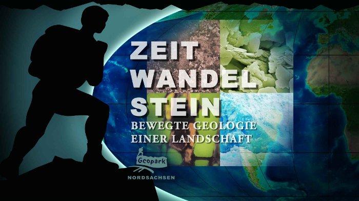 """""""Zeit-Wandel-Stein"""", das Motto der landschaftsgenetisch und rohstoffgeologisch orientierten Ausstellung im Geoportal Röcknitz (Geopark Nordsachsen)"""