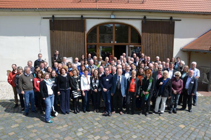Die Teilnehmerinnen und Teilnehmer der Tagung GeoTop 2016 - Kultur.Wert.Stein (Foto: S. Wittwer)
