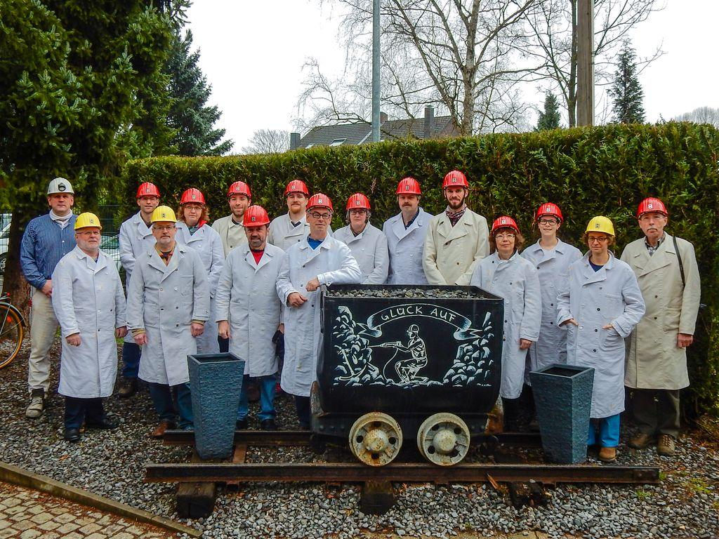 Exkursionsgruppe der Befahrung des Trainingsbergwerkes Recklinghausen (Foto: J. Rascher)