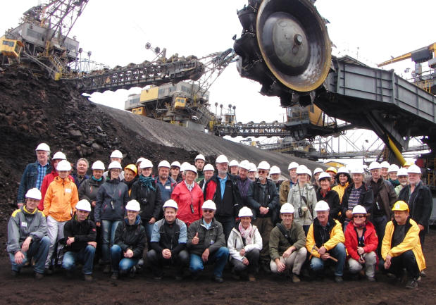 Vattenfall-Braunkohlentagebau Cottbus-Nord, kurz vor Ende der Kohlenförderung 2015 (38. Treffen AKBF 2015, Foto Glaschker)
